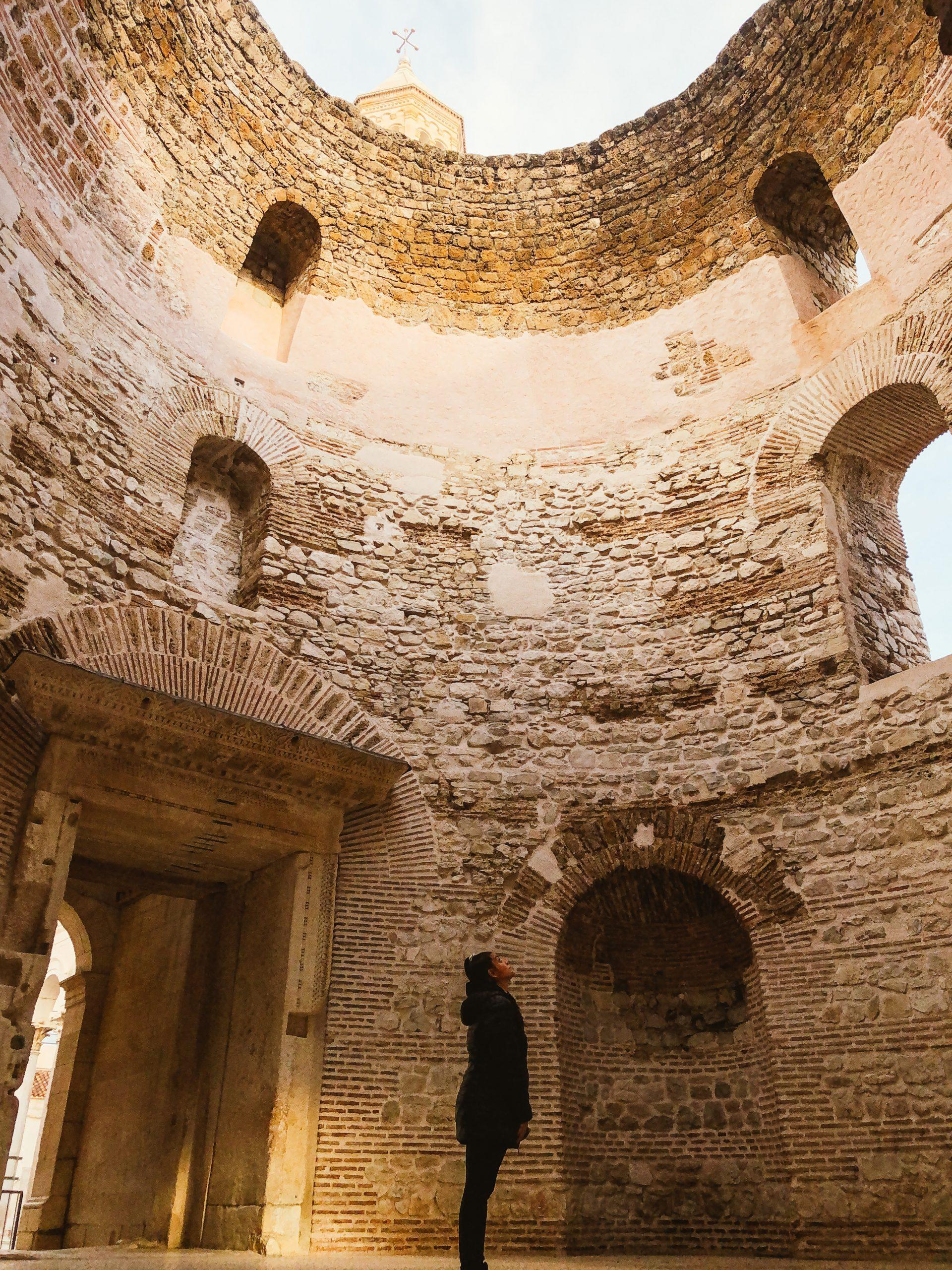 Vestíbulo Palacio de diocleciano - Split Croacia